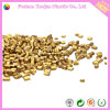 Masterbatch dourado com matéria- prima plástica