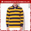 Moderne Gelb-Streifen-Baumwollmens-Arbeits-Polo-Hemden (ELTPSI-27)