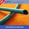 2017 Tuyau d'eau renforcé en fibre flexible en plastique PVC vert
