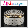 Mão cerâmica caixa de jóia pintada com tampa