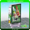 屋外表示ライトボックスランプのポストフレームのLED表示を広告する