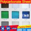 UV ясный лист поликарбоната Lexan, лист поликарбоната Lexan, UV лист поликарбоната Lexan