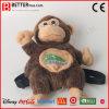 Jouet de singe bourré par sac à dos de peluche