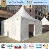 20 ' x20 de Tent van de Luifel van de Pagode met Witte VinylDak en Zijwanden en Witte Geplooide BinnenCeiling&Curtains en een Rolling Deur van pvc