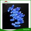 Luz solar de la decoración del jardín de 50 del LED del carámbano de la luz de la cadena de la luz del día de fiesta guirnaldas de hadas solares azules de la fiesta de Navidad