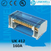 小型160A Safe UL Plastic Brass Conductor Electronic Terminal Block Price (UK412)