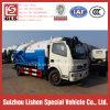 Camion fécal de vide d'équipement d'eaux d'égout du camion 4*2 d'aspiration d'égout de DFAC
