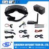 óculos de proteção de 3D Fpv/de modalidade 3D/2D e de diversidade 5.8GHz vidros video vidros internos do receptor