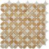 도와 Crema 아름다운 Marfil 대리석 모자이크