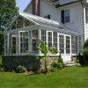 Sunroom de aluminio de la casa de aluminio de la luz del sol del vidrio laminado (parada total transitoria)