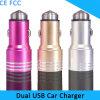 carregador duplo do carro do USB do telefone móvel do martelo da segurança do metal de 5V 2.4A 1A para o iPhone 6