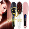 Factory original Price Mini Ceramic Electronic Magic Hair Straightener Comb Electric Straight Hair Comb Straightener Iron Brush con el LCD