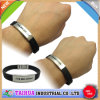 Bracelete por atacado do silicone com tecla do metal e impresso (TH-0553)
