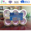 6 Rolls plana encogimiento con la etiqueta de BOPP cinta de embalaje
