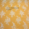 Table Cloth Vc-06032のための3m*1.5m White Polyester Lace