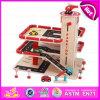 Гараж автомобиля игрушки 2015 малышей любимейший деревянный, горячая продавая игрушка места для стоянки, деревянный комплект игры автомобиля, гараж W04b025 автомобиля игрушки деревянной игры установленный