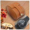 Caixa de relógio de couro do entalhe do plutônio da melhor escolha única