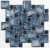 青い組合せのクリスタルグラスのモザイク