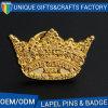 Il distintivo commemorativo di marchio su ordinazione 3D con oro ha placcato