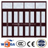 Glaslandhaus-Haus-Sicherheits-Eingangs-Stahlglastür (W-GD-38)