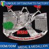 In lega di zinco morire la medaglia creativa di sport del premio del metallo del getto con il nastro