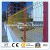 Le PVC a enduit l'euro clôture de panneau soudée par Hollande de treillis métallique