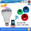 Lampadina senza fili di musica di telecomando della lampada dell'indicatore luminoso di lampadina dell'altoparlante E27 LED di Bluetooth