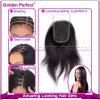 Chiusura completa diritta del merletto dei capelli umani di colore  X5  del commercio all'ingrosso 4