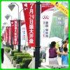 Kundenspezifische Straßen-Fahnen-Markierungsfahnen-Drucken-Polyester-Markierungsfahnen