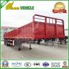 remorque détachable de cargaison de mur latéral de 3-Axle 50t