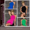 4 لون نساء [هومكمينغ] ثوب طوق عنق فصل صيف ثياب