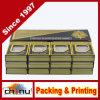 Игры таблицы покера играя карточек Llf 24k покрынные Золот-Фольгой с одной шикарной деревянной коробкой подарка