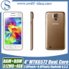 Двойной сотовый телефон Mtk6572A 4.0  5.0MP GSM/WCDMA 3G Cheap Smart Phone Core (H5W)