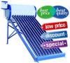 Calentador de agua solar no presurizado solar de Unpressure de la presión inferior del tubo de vacío