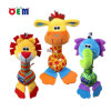 Silicone Teethers를 가진 OEM Plush Animal Shape Baby Rattle Toy