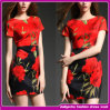 2015 евроец Fashion Red и Black Short Dress для Women (D03215)