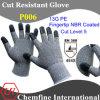 13G ЧП трикотажные перчатки с NBR покрытием напальчника / EN388: 454X