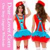 Красный супер Costume платья водопроводчика Марио
