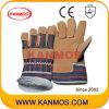黄色いブタのそぎ皮の冬作業産業安全の手袋(21301)