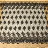 Projetos lustrosos pretos do bordado do engranzamento com tela composta do fio da corda e de poliéster à saia de Ladys