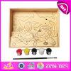 2014 het nieuwe het Schilderen van Jonge geitjes Houten Stuk speelgoed van het Raadsel, Populaire Houten Kinderen die DIY Raadsel, het Moderne Raadsel W03A064 schilderen van de Schilderijen van de Kunst