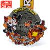 Горячая таможня надувательства Bespoke дешевое оптовое медаль сувенира Турции