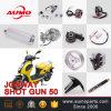 Jonwayの打撃Gun50のオートバイの部品のための速度計駆動機構ギヤ