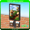 2017 Street Lamp Post Solar Outdoor LED Light Box com lata de lixo