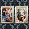 화포에 Marilyn 몬로 손으로 그리는 현대 숫자 팔레트 나이프 벽 예술 장식 요약 초상화 대중 음악 유화를 위한 유화
