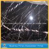 Mármol negro de China Nero Marquina para los azulejos, encimeras, tapas de vector