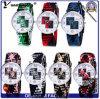 Relógios de pulso tecidos do relógio do bracelete da OTAN da moda das senhoras do relógio do projeto da promoção Yxl-203 vestido de nylon novo