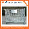 Jaulas de acero superficiales del almacenaje del cinc con las ruedas, jaula bloqueable a Corea