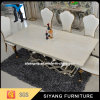 Tabela de jantar de mármore grande de venda quente para a mobília Home