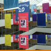 Impresión de la bandera de la tela del poliester de la alta calidad para la publicidad
